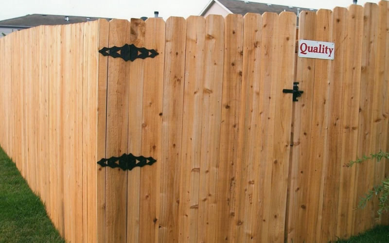 6 foot wood fencing, privacy fence