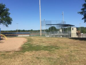 baseball field chain link fence